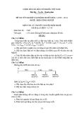 Đề thi & đáp án lý thuyết Điện công nghiệp năm 2012 (Mã đề LT8)