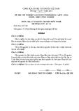 Đề thi & đáp án lý thuyết Điện công nghiệp năm 2012 (Mã đề LT11)