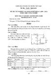 Đề thi & đáp án lý thuyết Điện công nghiệp năm 2012 (Mã đề LT48)