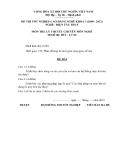 Đề thi & đáp án lý thuyết Điện tàu thủy năm 2012 (Mã đề LT4)