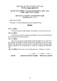 Đề thi & đáp án lý thuyết Điện công nghiệp năm 2012 (Mã đề LT13)
