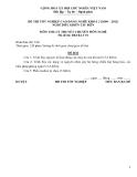 Đề thi & đáp án lý thuyết Điều khiển tàu biển năm 2012 (Mã đề LT1)