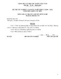 Đề thi & đáp án lý thuyết Điều khiển tàu biển năm 2012 (Mã đề LT50)