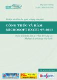 Ebook Công thức và hàm Microsoft excel 97-2013 - Trần Thanh Phong