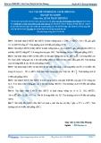 Luyện thi Đại học Kit 1 - Môn Toán: Các vấn đề về khoảng cách Phần 3 (Bài tập tự luyện)