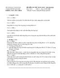Đề kiểm tra học kỳ 2 lần 2 môn Vật lý lớp 11 năm 2013-2014 - THPT Cần Thạnh