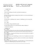 Đề kiểm tra học kỳ 2 lần 2 môn Vật lý lớp 10 năm 2013-2014 - THPT Cần Thạnh