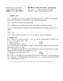 Đề kiểm tra học kỳ 1 lần 2 môn Vật lý lớp 10 năm 2013-2014 - THPT Cần Thạnh