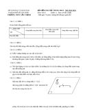 Đề kiểm tra học kỳ 2 lần 1 môn Vật lý lớp 11 năm 2013-2014 - THPT Cần Thạnh