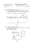 Đề thi môn Cơ học kết cấu - ĐH Thủy lợi - Đề số 15