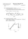 Đề thi môn Cơ học kết cấu - ĐH Thủy lợi - Đề số 14
