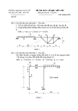 Đề thi môn Cơ học kết cấu - ĐH Thủy lợi - Đề số 13
