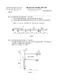 Đề thi môn Cơ học kết cấu - ĐH Thủy lợi - Đề số 9