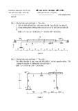 Đề thi môn Cơ học kết cấu - ĐH Thủy lợi - Đề số 4