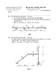 Đề thi môn Cơ học kết cấu - ĐH Thủy lợi - Đề số 17