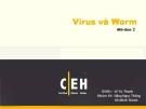 Báo cáo An ninh mạng: Virus và Worm