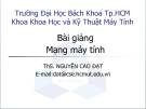 Bài giảng Mạng máy tính: Bài 8 (Chương IV) - ThS. Nguyễn Cao Đạt