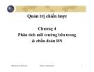 Bài giảng Quản trị chiến lược: Chương 4 - ĐH Thương mại