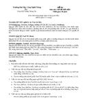 Đề thi Lý thuyết Cơ sở dữ liệu - Đề số 4