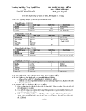 Đề thi Thực hành Cơ sở dữ liệu - Đề số 10