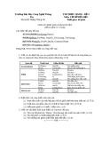 Đề thi Thực hành Cơ sở dữ liệu - Đề số 2