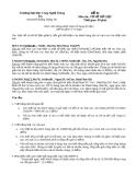 Đề thi Lý thuyết Cơ sở dữ liệu - Đề số 1
