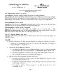 Đề thi Lý thuyết Cơ sở dữ liệu - Đề số 3
