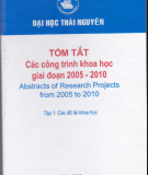 Đề tài khoa học - Công trình khoa học giai đoạn 2005 - 2010: Phần 1