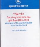 Đề tài khoa học - Công trình khoa học giai đoạn 2005 - 2010: Phần 2