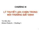Bài giảng Kinh tế học vi mô: Chương III - TS. Nguyễn Quỳnh Hoa