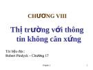 Bài giảng Kinh tế học vi mô: Chương VIII - TS. Nguyễn Quỳnh Hoa
