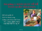 Bài giảng Kế toán quản trị: Bài 1 - ThS. Võ Minh Long