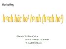 Bài giảng Hình học họa hình (hình họa): Chương 1 - TS. Phạm Văn Sơn