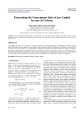 Forecasting the Convergence State of per Capital Income in Vietnam