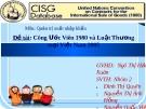 Đề tài: Công ước viên 1980 và luật thương mại Việt Nam 2005