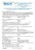 Chuyên đề LTĐH môn Hóa học: Một số vấn đề về hóa học hữu cơ (Đề 1)