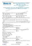 Chuyên đề LTĐH môn Hóa học: Một số vấn đề về hóa học hữu cơ (Đề 2)