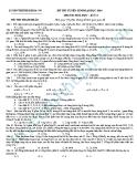 Đề thi thử Đại học môn Hóa khối A năm 2013 - Đề4