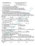 Đề thi thử Đại học môn Hóa khối A năm 2013 - Đề14