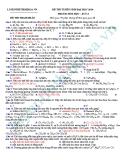 Đề thi thử Đại học môn Hóa khối A năm 2013 - Đề11