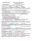 Đề thi thử Đại học môn Hóa khối A năm 2013 - Đề5
