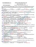 Đề thi thử Đại học môn Hóa khối A năm 2013 - Đề9