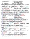 Đề thi thử Đại học môn Hóa khối A năm 2013 - Đề7