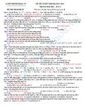 Đề thi thử Đại học môn Hóa khối A năm 2013 - Đề3