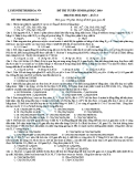 Đề thi thử Đại học môn Hóa khối A năm 2013 - Đề8