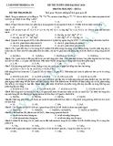 Đề thi thử Đại học môn Hóa khối A năm 2013 - Đề2