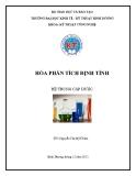 Giáo trình Hóa phân tích định tính - GV. Nguyễn Thị Mỹ Chăm