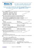 Chuyên đề LTĐH môn Sinh học: Cấu trúc và chức năng của ADN