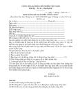 10 Mẫu đơn dự tuyển công chức