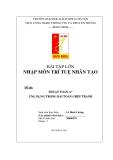 Bài tập lớn môn Trí tuệ nhân tạo: Thuật toán A* ứng dụng trong bài toán ghép tranh